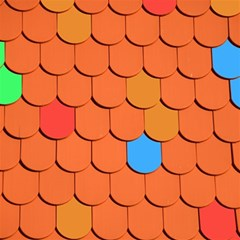 Roof Brick Colorful Red Roofing Magic Photo Cubes