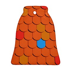 Roof Brick Colorful Red Roofing Ornament (Bell)