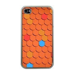 Roof Brick Colorful Red Roofing Apple Iphone 4 Case (clear)