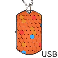 Roof Brick Colorful Red Roofing Dog Tag USB Flash (Two Sides)