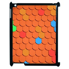 Roof Brick Colorful Red Roofing Apple iPad 2 Case (Black)
