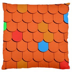 Roof Brick Colorful Red Roofing Large Cushion Case (Two Sides)