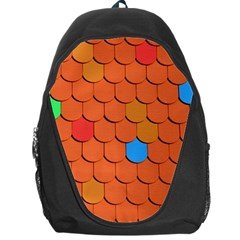 Roof Brick Colorful Red Roofing Backpack Bag
