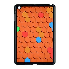 Roof Brick Colorful Red Roofing Apple iPad Mini Case (Black)