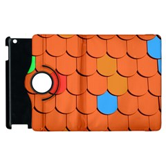Roof Brick Colorful Red Roofing Apple iPad 3/4 Flip 360 Case