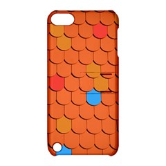 Roof Brick Colorful Red Roofing Apple iPod Touch 5 Hardshell Case with Stand