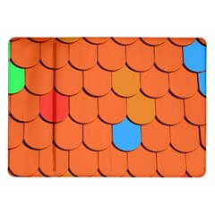 Roof Brick Colorful Red Roofing Samsung Galaxy Tab 10.1  P7500 Flip Case