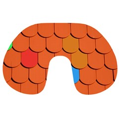 Roof Brick Colorful Red Roofing Travel Neck Pillows