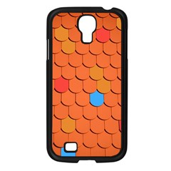 Roof Brick Colorful Red Roofing Samsung Galaxy S4 I9500/ I9505 Case (Black)