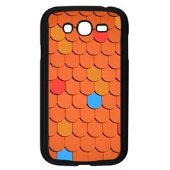 Roof Brick Colorful Red Roofing Samsung Galaxy Grand DUOS I9082 Case (Black)