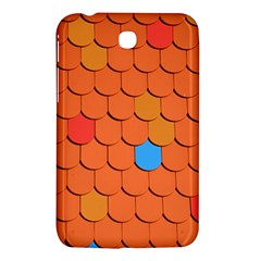 Roof Brick Colorful Red Roofing Samsung Galaxy Tab 3 (7 ) P3200 Hardshell Case
