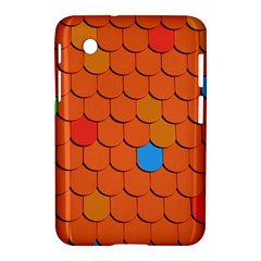 Roof Brick Colorful Red Roofing Samsung Galaxy Tab 2 (7 ) P3100 Hardshell Case