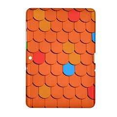 Roof Brick Colorful Red Roofing Samsung Galaxy Tab 2 (10.1 ) P5100 Hardshell Case