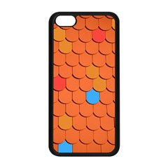 Roof Brick Colorful Red Roofing Apple iPhone 5C Seamless Case (Black)
