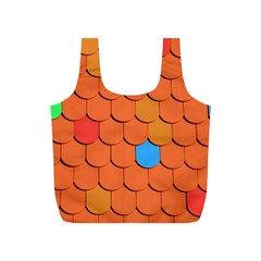 Roof Brick Colorful Red Roofing Full Print Recycle Bags (s)