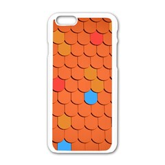 Roof Brick Colorful Red Roofing Apple Iphone 6/6s White Enamel Case