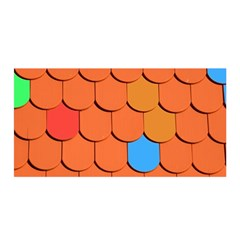 Roof Brick Colorful Red Roofing Satin Wrap