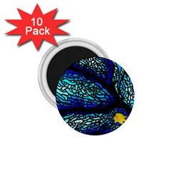 Sea Fans Diving Coral Stained Glass 1.75  Magnets (10 pack)