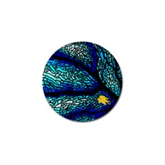 Sea Fans Diving Coral Stained Glass Golf Ball Marker (10 pack)