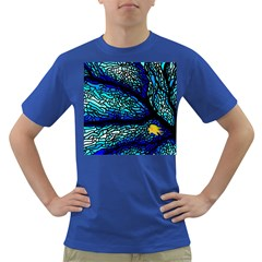 Sea Fans Diving Coral Stained Glass Dark T-Shirt
