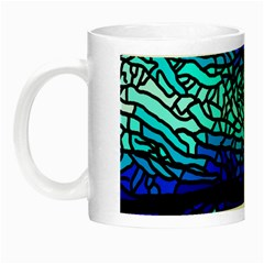 Sea Fans Diving Coral Stained Glass Night Luminous Mugs