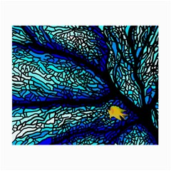 Sea Fans Diving Coral Stained Glass Small Glasses Cloth