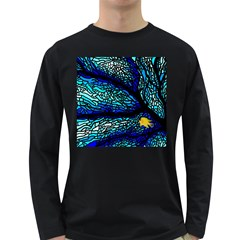 Sea Fans Diving Coral Stained Glass Long Sleeve Dark T-Shirts