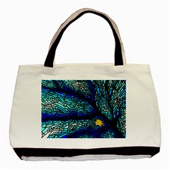 Sea Fans Diving Coral Stained Glass Basic Tote Bag