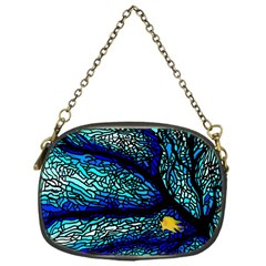 Sea Fans Diving Coral Stained Glass Chain Purses (One Side)
