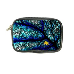 Sea Fans Diving Coral Stained Glass Coin Purse