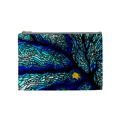 Sea Fans Diving Coral Stained Glass Cosmetic Bag (medium)