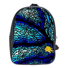 Sea Fans Diving Coral Stained Glass School Bags(Large)