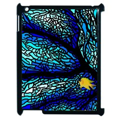 Sea Fans Diving Coral Stained Glass Apple Ipad 2 Case (black)