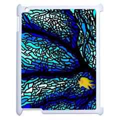 Sea Fans Diving Coral Stained Glass Apple iPad 2 Case (White)
