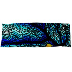 Sea Fans Diving Coral Stained Glass Body Pillow Case Dakimakura (two Sides)