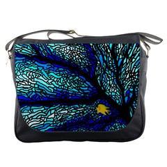 Sea Fans Diving Coral Stained Glass Messenger Bags