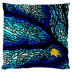 Sea Fans Diving Coral Stained Glass Large Cushion Case (one Side)