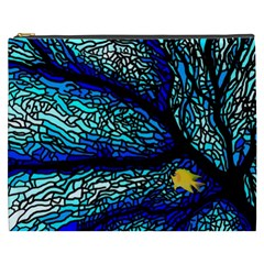 Sea Fans Diving Coral Stained Glass Cosmetic Bag (xxxl)