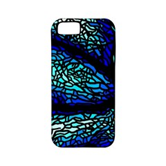Sea Fans Diving Coral Stained Glass Apple Iphone 5 Classic Hardshell Case (pc+silicone)