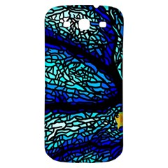 Sea Fans Diving Coral Stained Glass Samsung Galaxy S3 S III Classic Hardshell Back Case