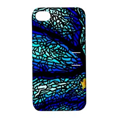 Sea Fans Diving Coral Stained Glass Apple iPhone 4/4S Hardshell Case with Stand