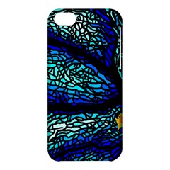 Sea Fans Diving Coral Stained Glass Apple Iphone 5c Hardshell Case