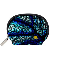 Sea Fans Diving Coral Stained Glass Accessory Pouches (small)