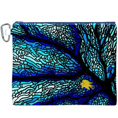 Sea Fans Diving Coral Stained Glass Canvas Cosmetic Bag (XXXL)