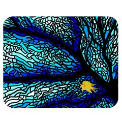 Sea Fans Diving Coral Stained Glass Double Sided Flano Blanket (Medium)