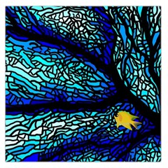 Sea Fans Diving Coral Stained Glass Large Satin Scarf (Square)