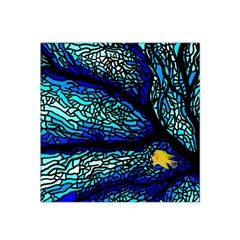 Sea Fans Diving Coral Stained Glass Satin Bandana Scarf