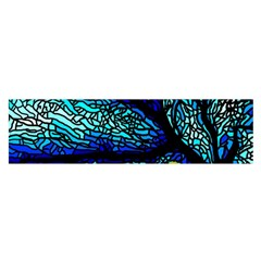 Sea Fans Diving Coral Stained Glass Satin Scarf (Oblong)