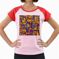 Square Background Background Texture Women s Cap Sleeve T Shirt
