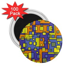 Square Background Background Texture 2 25  Magnets (100 Pack)